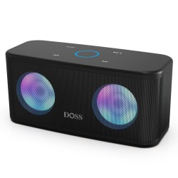 TWS 2*8W Bluetooth speaker - wireless - deep bass with LED light
