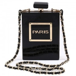 transparent acrylic elegant perfume bottle bag - vertical style square bag - party gown dinner bag female