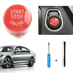 Start & stop engine - button switch cover for BMW 1 Series F20 F21 2012-18 - red