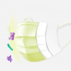 Disposable face/ mouth masks - 3 layer - anti-dust - anti bacterial - premium yellow