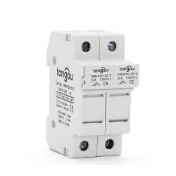 1 Set 2P Parallel Fuse Holder 10*38mm High Voltage Solar PV 1000V DC Fusible PV Fuses 3A to 30A Protection For Solar System