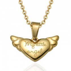 My Little Angel - gold necklace