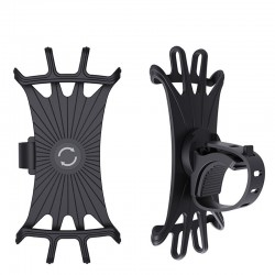 Silicone Car Phone Holder - Black/Orange