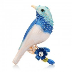 Enamel Bird Brooches
