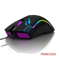 PMW3360 Gaming Mouse - Fire Key - FPS Gamer