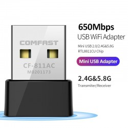 CF-811AC 650Mbs - 2.4G & 5G - dual band - portable wireless usb Wifi adapter - high speed
