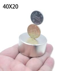 N52 Neodymium cylinder magnet - strong magnet disc - 40 * 20 * 20mm