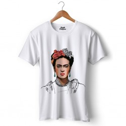 T-shirt with women's face