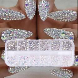12 boxes / set - AB crystal - rhinestone - diamond gem - glitter - nail art