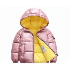 Warm children jacket with hood - cotton - water repellent