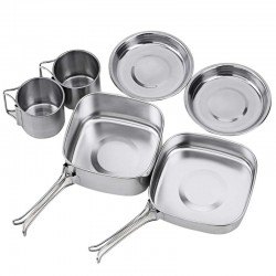 Backpacking - Camping - Cookware Pot Set - Stainless Steel