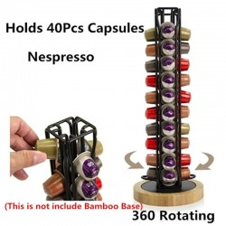 40 Capsules - Coffee Pod Holder - Tower Stand - Nespresso Capsule