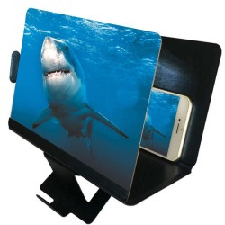 Universal phone screen amplifier - 3D video - projector - bracket - holder - stand