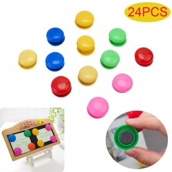 Round magnetic buttons - whiteboard - fridge magnets - 24 pieces