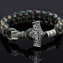Vintage - braided viking bracelets - silver - camouflage