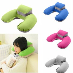 Travel pillow - inflatable - neck support - U-shaped