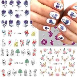 Nail Art Sticker - Flower - Cartoon