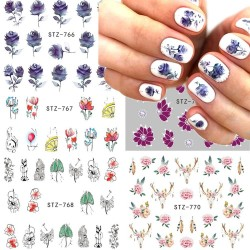 Nail art stickers - flowers