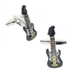 Brass cufflinks - musical instruments
