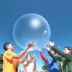 Transparent bubble ball - inflatable - tear-resistant