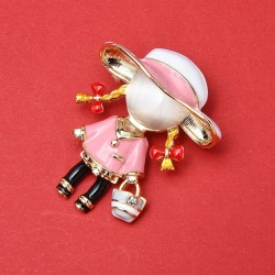 Carry Bag Girl - Brooches