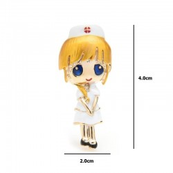 Gold Hair Nurse - Brooches