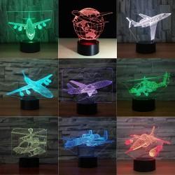 Air Plane Lamp - 3D Light - LED - 7 Colors