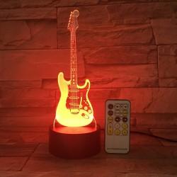 Remote Guitar Night Light - 3D - LED Lamp - 7 Colors