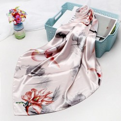 Fashionable silk scarf with print