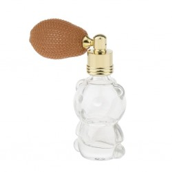 8ml Glass - Perfume Bottle - Refillable - Bear Shaped