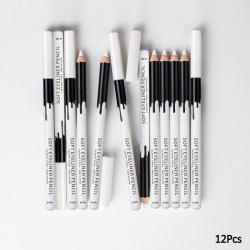 White eye pencil - eyeliner - 12 pieces