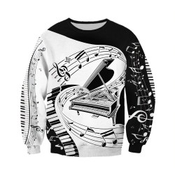 Musical notes - jumper - hoodie - zipper