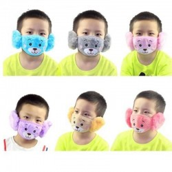 2 in 1 - ear muffs / face mask for children - plush bear