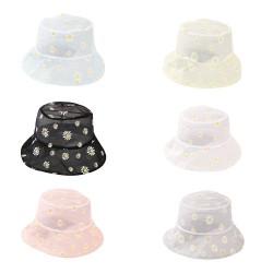 Sun cap with daisies - hat