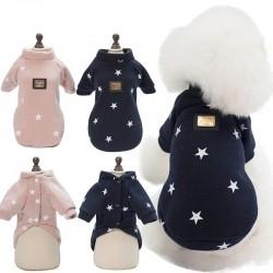 Five star pattern - warm dogs / cats vest