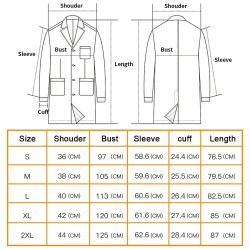 White long-sleeve work coat - spa / beauty salons / hospital