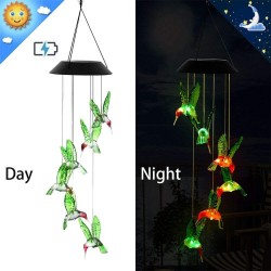 Solar powered - wind chimes