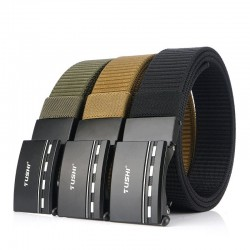 Military nylon belt with metal buckle