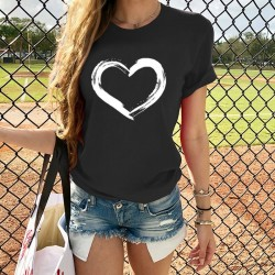 Heart printed t-shirt for women