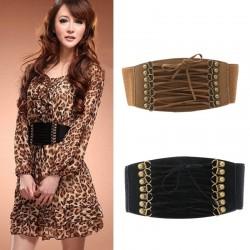 Elastic waist belt - faux leather