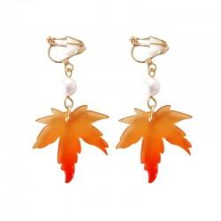 Maple leaf earrings - dangle earrings