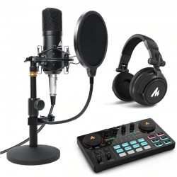 Maono - Podcast Kit - Microphone - Headphone - Mixer - PC - Laptop