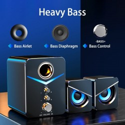 Computer speaker set - Bluetooth 5.0 - USB - stereo sound - bass