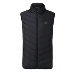 USB - electric heated - thermal vest with zippers