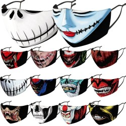 Mouth / face protective face mask - PM2.5 filter - reusable - Clown Joker Devil