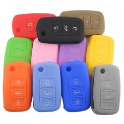 Silicone car key cover - Volkswagen Golf Bora Jetta POLO Passat - Skoda Superb Octavia Fabia - Seat Ibiza Leon
