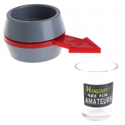 Alcohol drinking game - spinning toy - roulette glass shot game