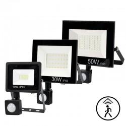 LED flood light - outdoor reflector - PIR motion sensor - waterproof - 10W - 20W - 30W - 50W - 100W