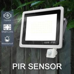 LED floodlight - outdoor reflector - PIR motion sensor - waterproof - 10W - 20W - 30W - 50W - 100W