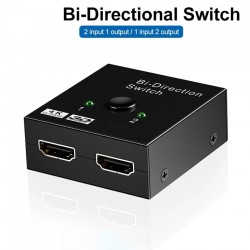 4K HDMI switch - Bi-Direction - 1 to 2 splitter - 2 in 1 out adapter - for PS3 PS4 Xbox HDTV